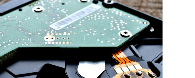 inside of HDD | Featured image for HDD vs SDD for business blog.